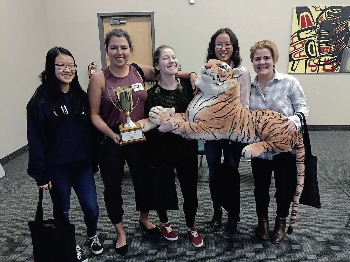 Winners of the 2017 Tigers' Den competition held by LRSD was the group of Melita Chen (Collège Jeanne Sauvé); Adriana Brkic (Collège Jeanne Sauvé); Kayley Leurquin (Windsor Park Collegiate); Bethany Penner (J.H. Bruns); and Lexie Howika (Glenlawn Collegiate). The pitched a therapeutic lamp that helps ease chronic pain.