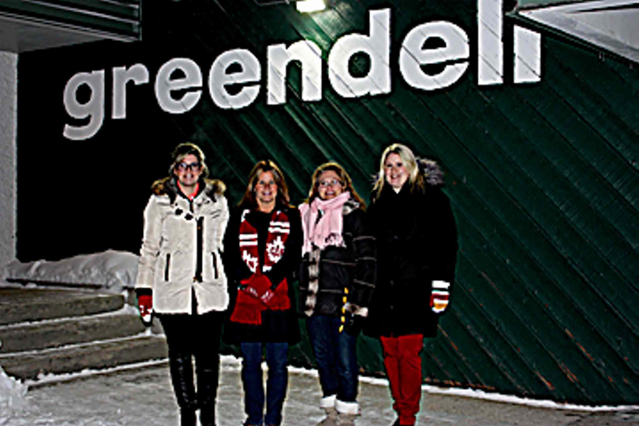 Left to Right -- Greendell Winter Carnival Committee - Jennifer Trach, Brenda Trach, Monika Carswell and Kirsten Meikle.