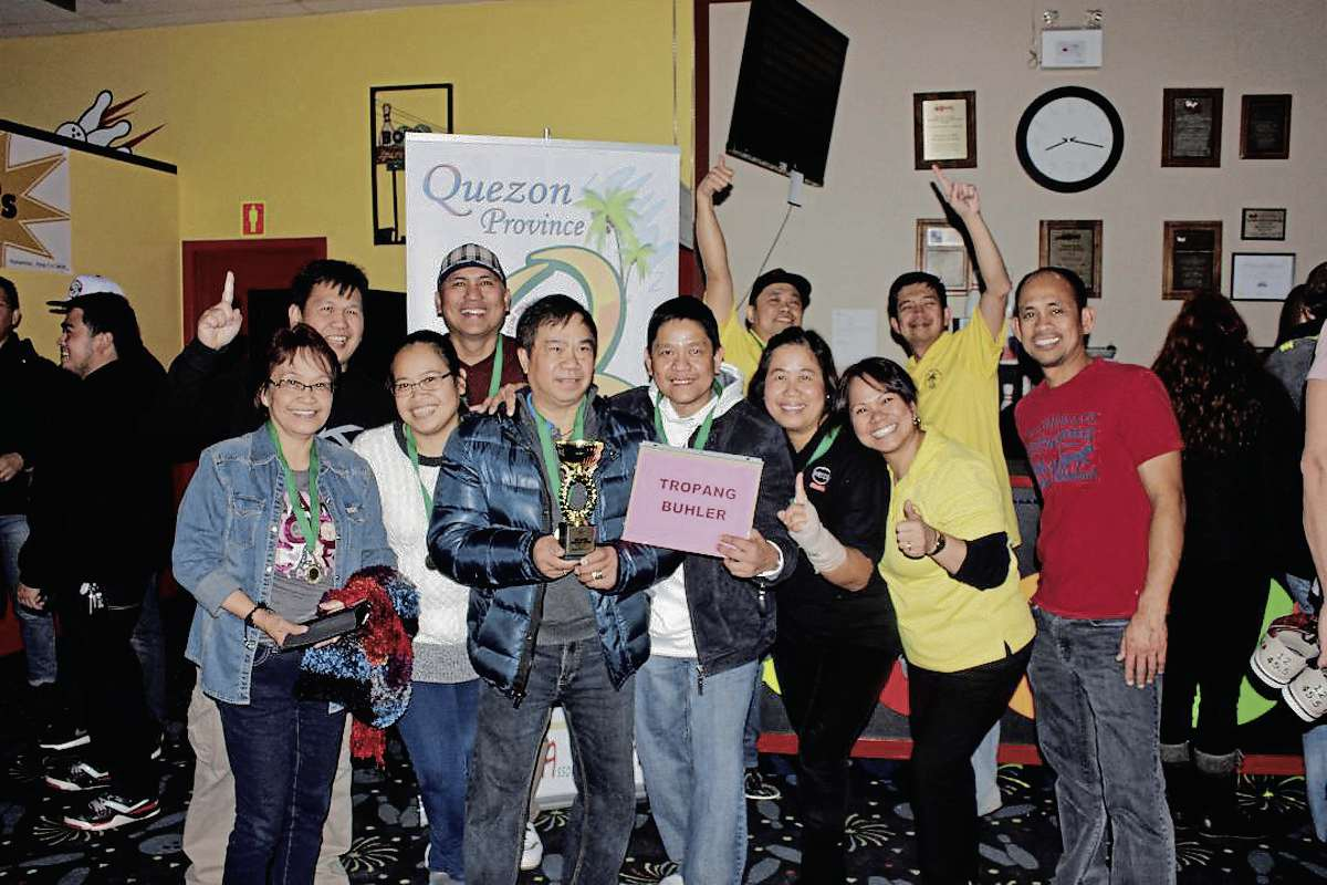 Tropang Buhler won the championship cup at the second QFun 10-Pin Bowling Fundraiser event at Chateau Lanes. QPAM officers (from left) Maggie Chan-Urbano, Alden Novallasca, Sonny Puache and Eddie Revilla pose with the winning team.