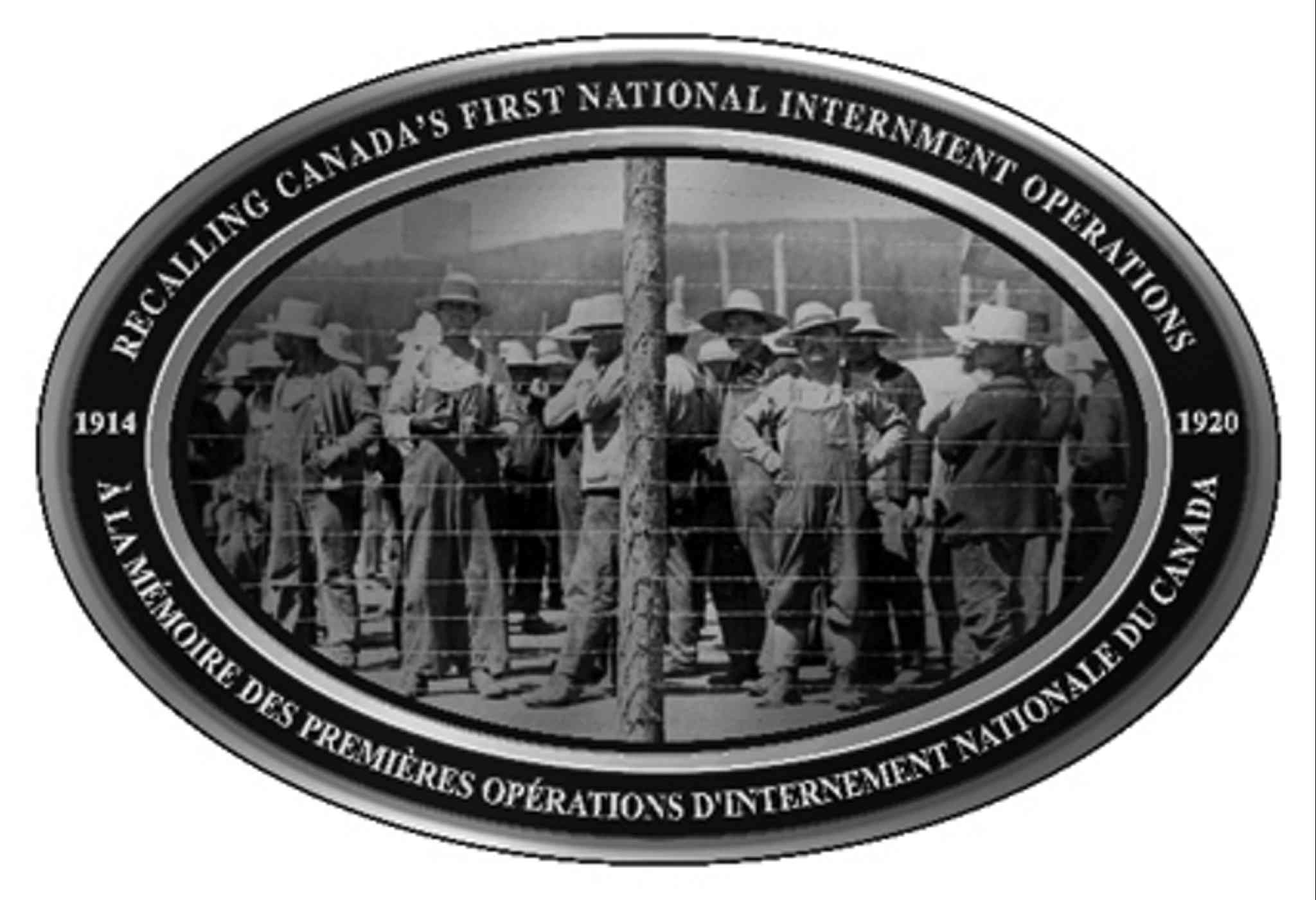 An example of the image which will be displayed on 100 plaques across Canada, recognizing those who were stripped of their civil liberties following the passage of the War Measures Act on Aug. 22, 1914.
