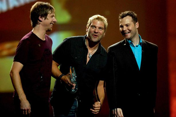 Doc Walker's (left) Murray Pulver, Chris Thorsteinson and Dave Wasyliw are pictured in a file photo accepting the Video of the Year award at the Canadian Country Music Awards night in Winnipeg in 2008. Thorsteinson will be the celebrity judge for Community Futures' 2014 Just Watch Me! video contest.