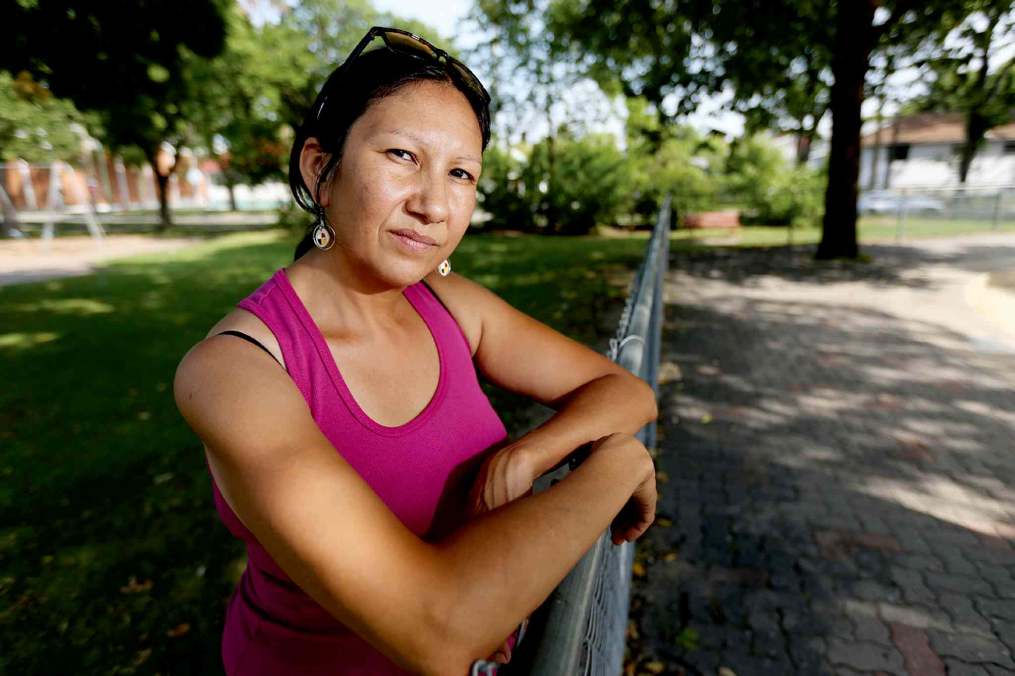 "Althea Guiboche, a.k.a. ""The Bannock Lady"", is pictured in a file photo from August 2013."