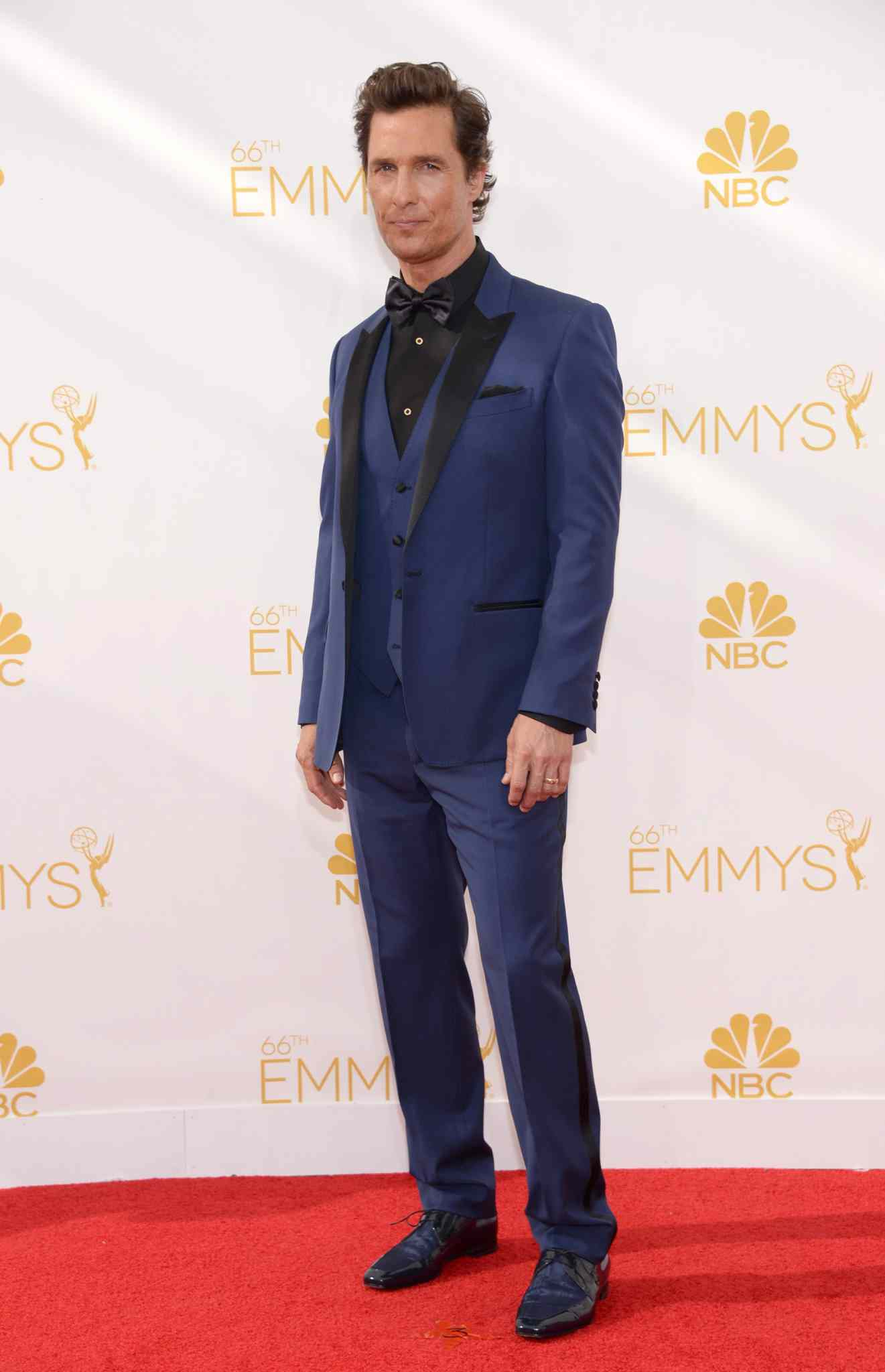 Matthew McConaughey arrives at the 66th Primetime Emmy Awards at the Nokia Theatre L.A. Live Monday.