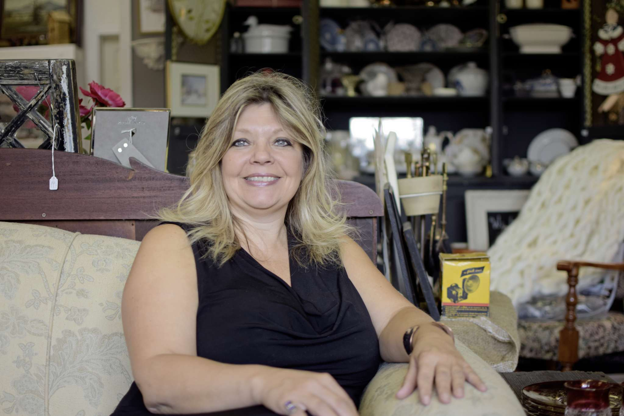 Green Mosquito Interiors Owner Raegan Quantrell In The Vintage Home Decor Store At 2175 Portage Ave