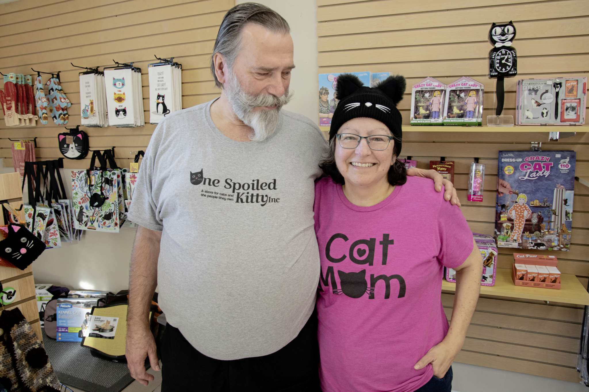 """Grant Rogerson and Donna Harris have opened a store in the West End dedicated to """"cats and the people they own."""""""