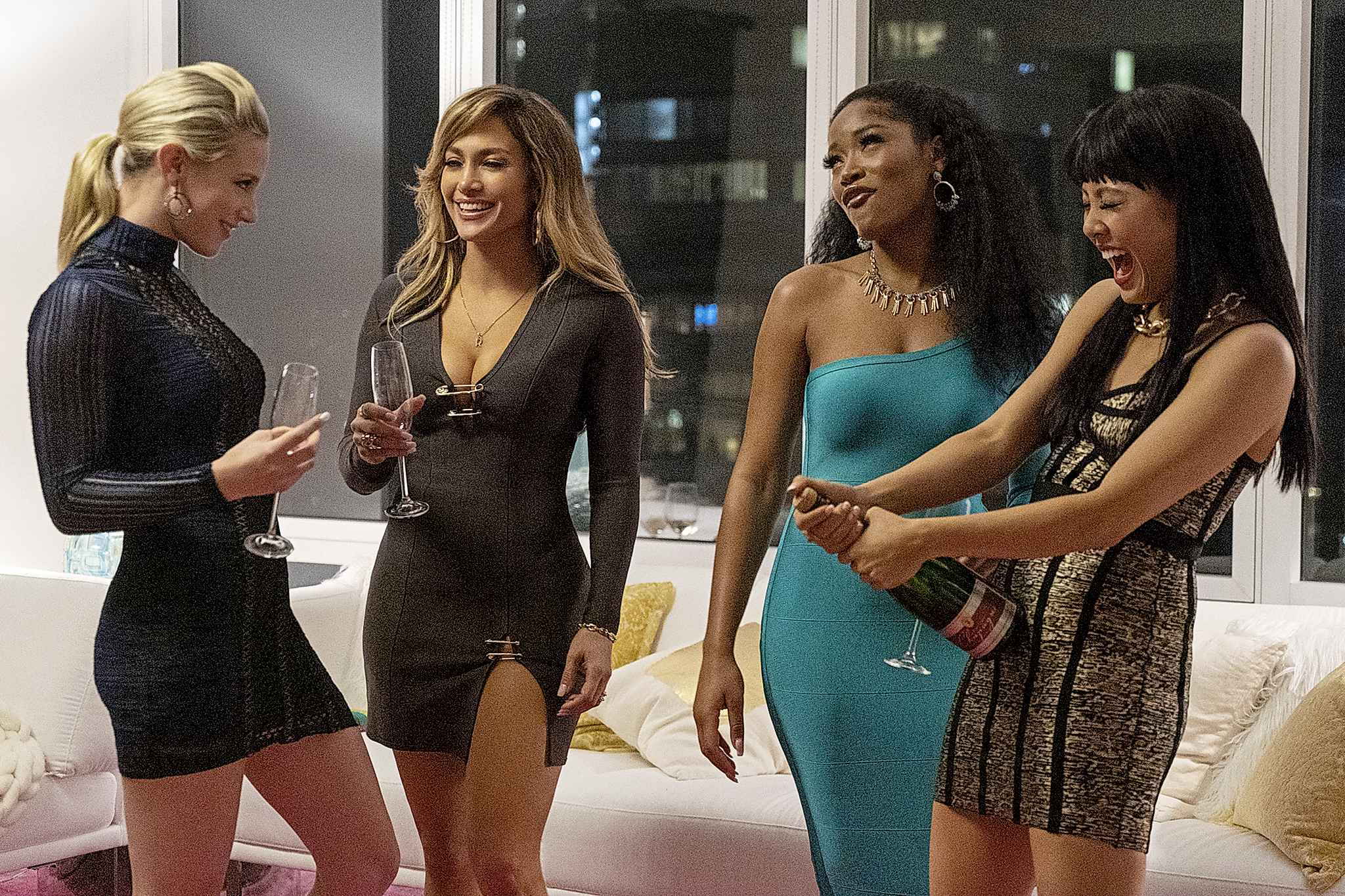 Barbara Nitke / STX Films</p><p>Lili Reinhart (from left), Jennifer Lopez, Keke Palmer and Constance Wu star in Hustlers. The film is mostly a true story, based on a New York Magazine article by Jessica Pressler about a gang of strippers who took the game of extracting money from their customers to felonious extremes.</p>
