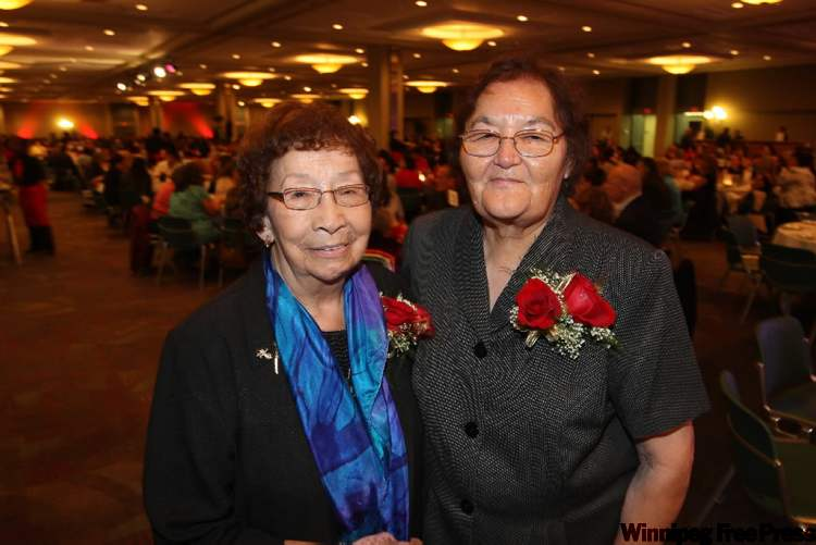 Flora Zaharia (left) and Marion Meadmore among those honoured Thursday night.