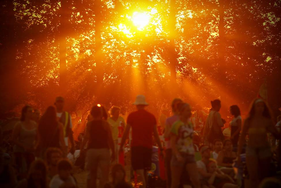 The sun sets on the last day of the Winnipeg Folk Festival Sunday, July 8, 2012. John Woods / Winnipeg Free Press