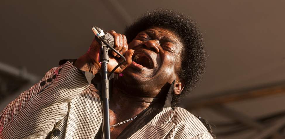 Charles Bradley, a New York-based funk and R&B singer perform at the Winnipeg Folk Festival Saturday evening. Melissa Tait / Winnipeg Free Press