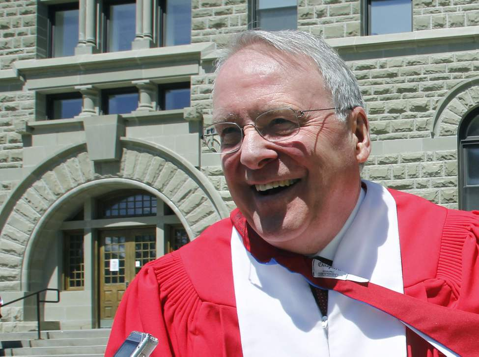 Ken Dryden, former NHL star was at the University of Winnipeg Convocation ceremony Thursday to receive an Honorary Degree of Letters. June 6, 2013 (WAYNE GLOWACKI/WINNIPEG FREE PRESS)