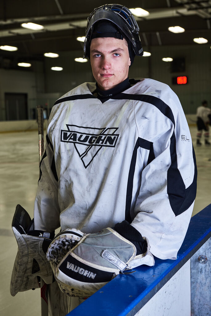 Tyler Brennan in 2018 before the WHL bantam draft. (David Lipnowski / Winnipeg Free Press files)