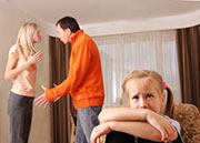 Early exposure to parental tension is a risk factor for later mental woes, researchers say.