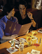 More women rely on menu's health info  than men.