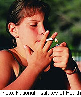 Friends' cigarette use a bigger factor in middle school than in high school, research shows.