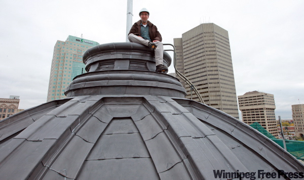Architect Wins Bridgman was in charge of the restoration of the of the A.A Heaps/Bank of Nova Scotia Building, including the exterior dome.