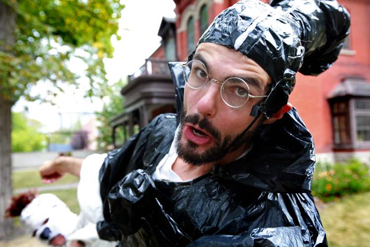 Fringe performer Ian Mozdzen says, 'There's some audiences who do want to see' a play featuring mayonnaise enemas.