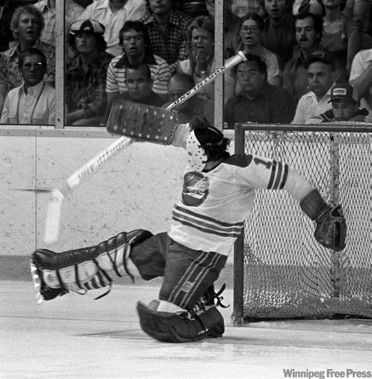 Joe Daley makes a save on May 20, 1978.