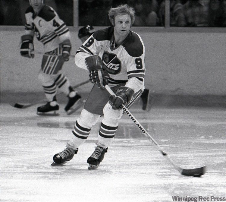 Bobby Hull in a March 29, 1977 game against Houston.