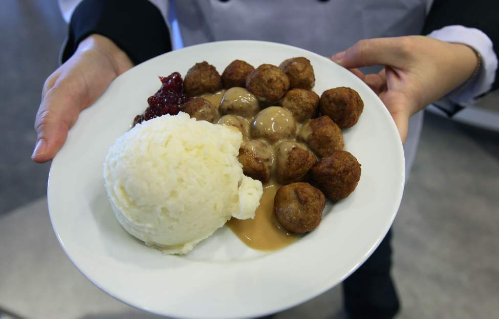 Ikea meatball plate