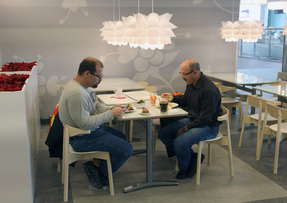 Having something to eat in  the  new Ikea restaurant.  (JOE BRYKSA / WINNIPEG FREE PRESS)