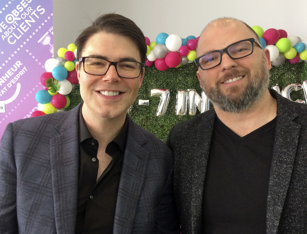 Jeff Fettes (left) with his brother Greg Fettes are the founders of 24-7 Intouch. (Martin Cash / Winnipeg Free Press files)