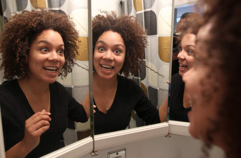 Winnipeg personality and comedian Aisha Alfa has written a column about her much-beloved afro hair.  January 15, 2012   (JOE BRYKSA / WINNIPEG FREE PRESS)
