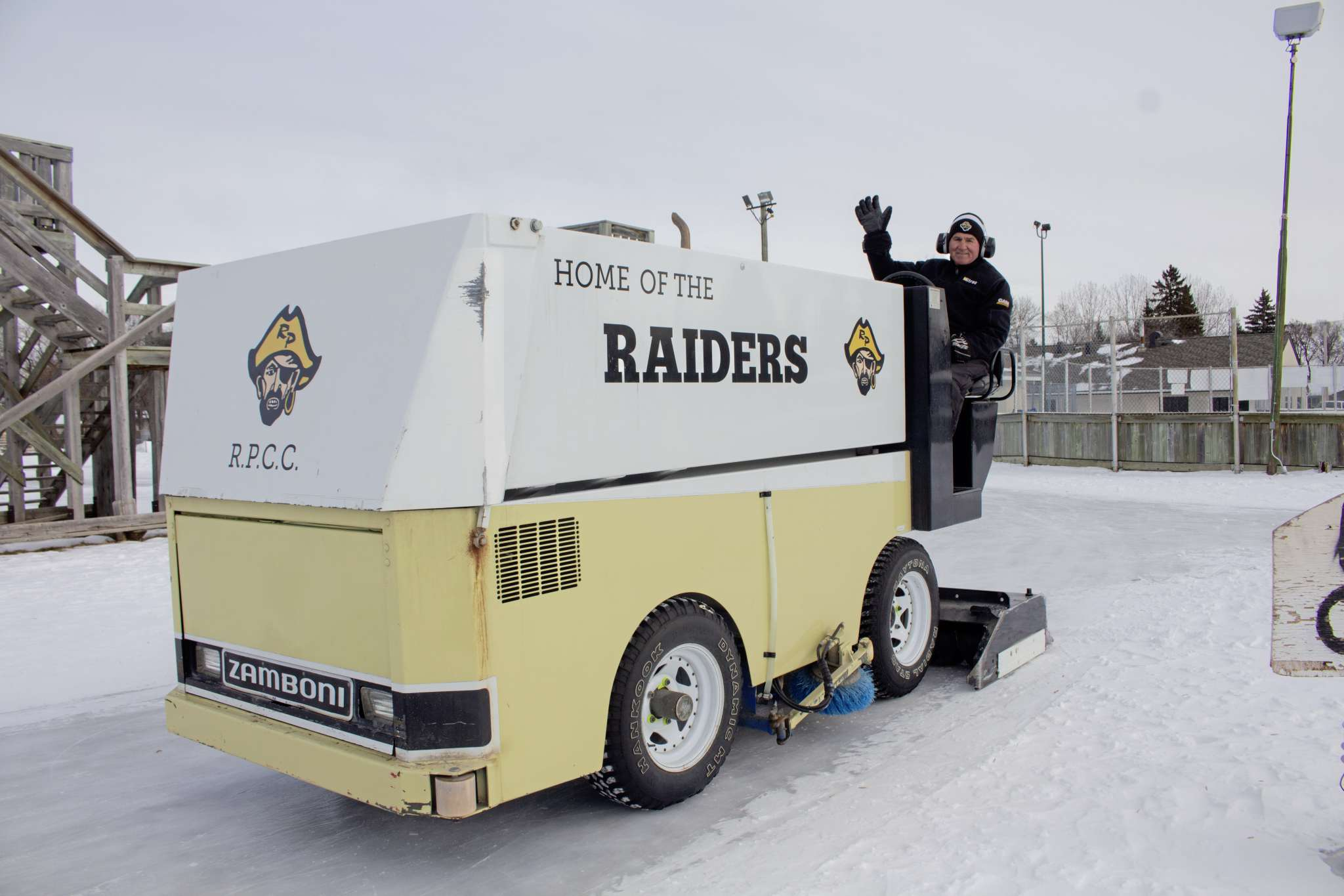 Jan. 8, 2020 - Marcy Beaucage, driving around a zamboni at the Roblin Park Community Centre. Beaucage has been working for the community centre for over 30 years. (JUSTIN LUSCHINSKI/CANSTAR COMMUNITY NEWS/METRO)