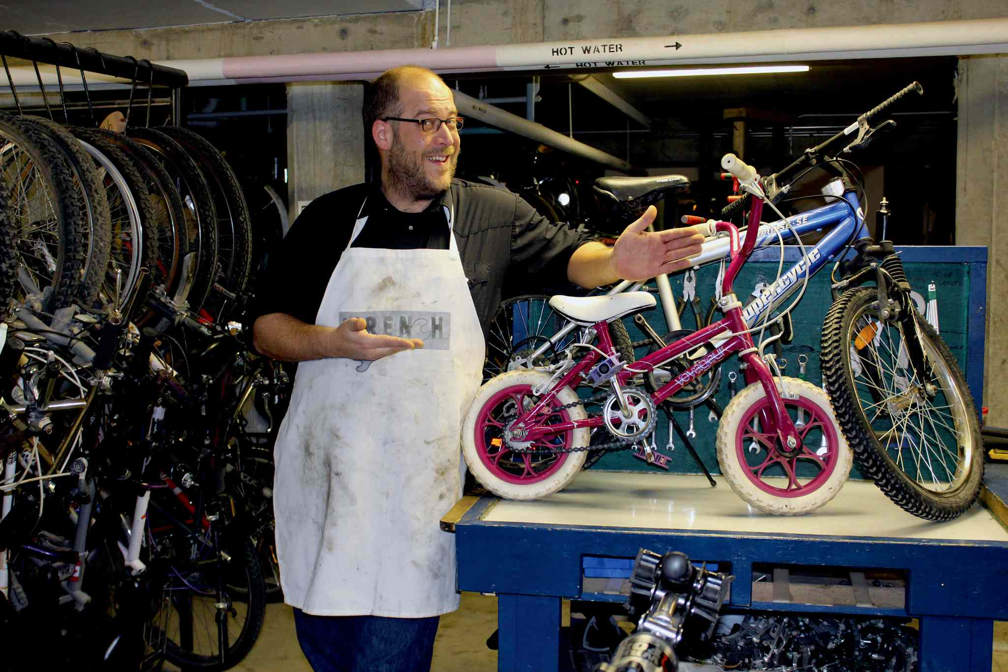 WRENCH executive director Patrick Krawec is excited to build over 250 bikes for those less fortunate with his team of mechanics and volunteers.
