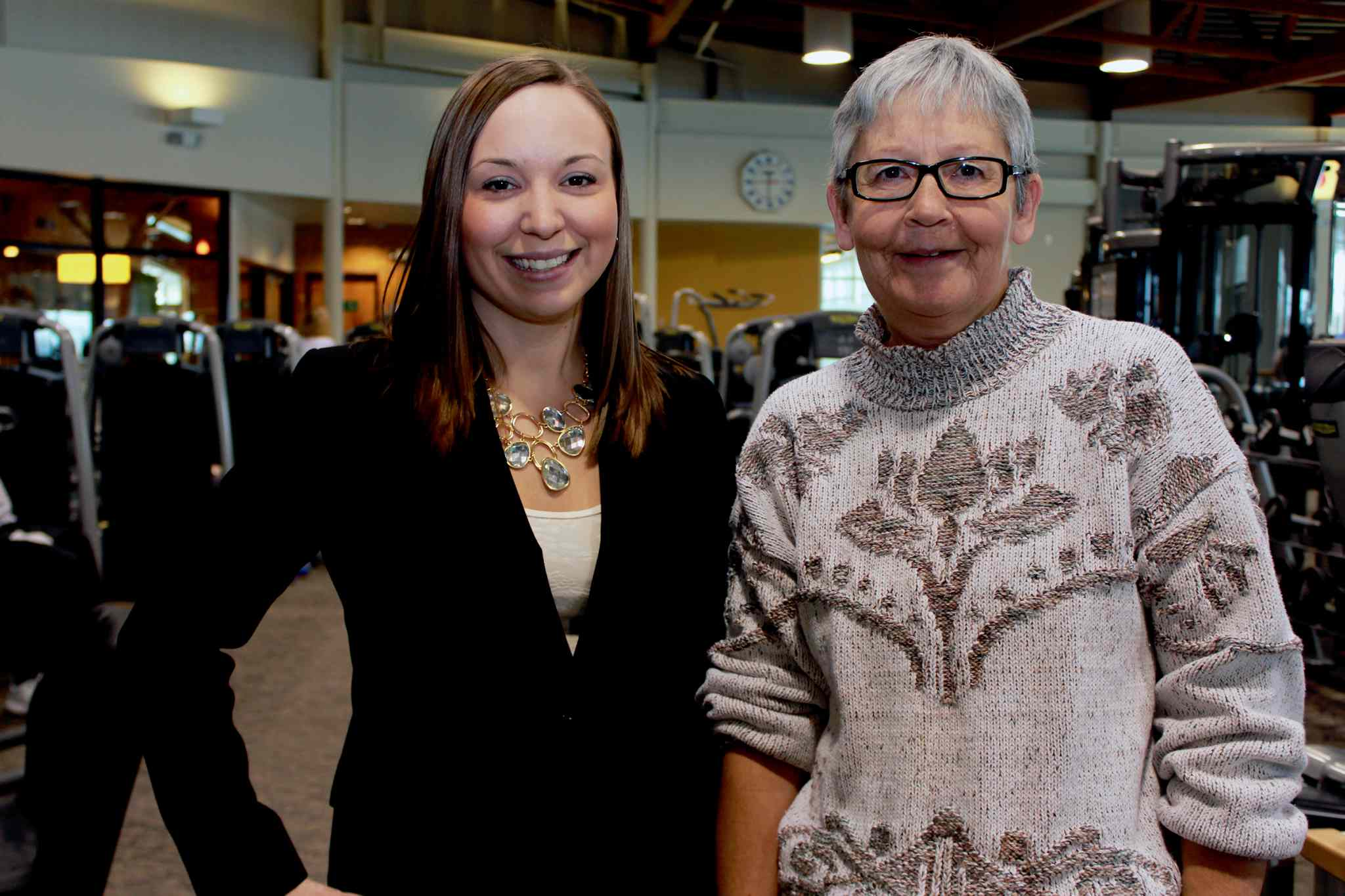 Get Better Together provincial and outreach coordinator Amy Yonda (left) and Judy Simcox, a participant and peer leader of the Wellness Institute program.
