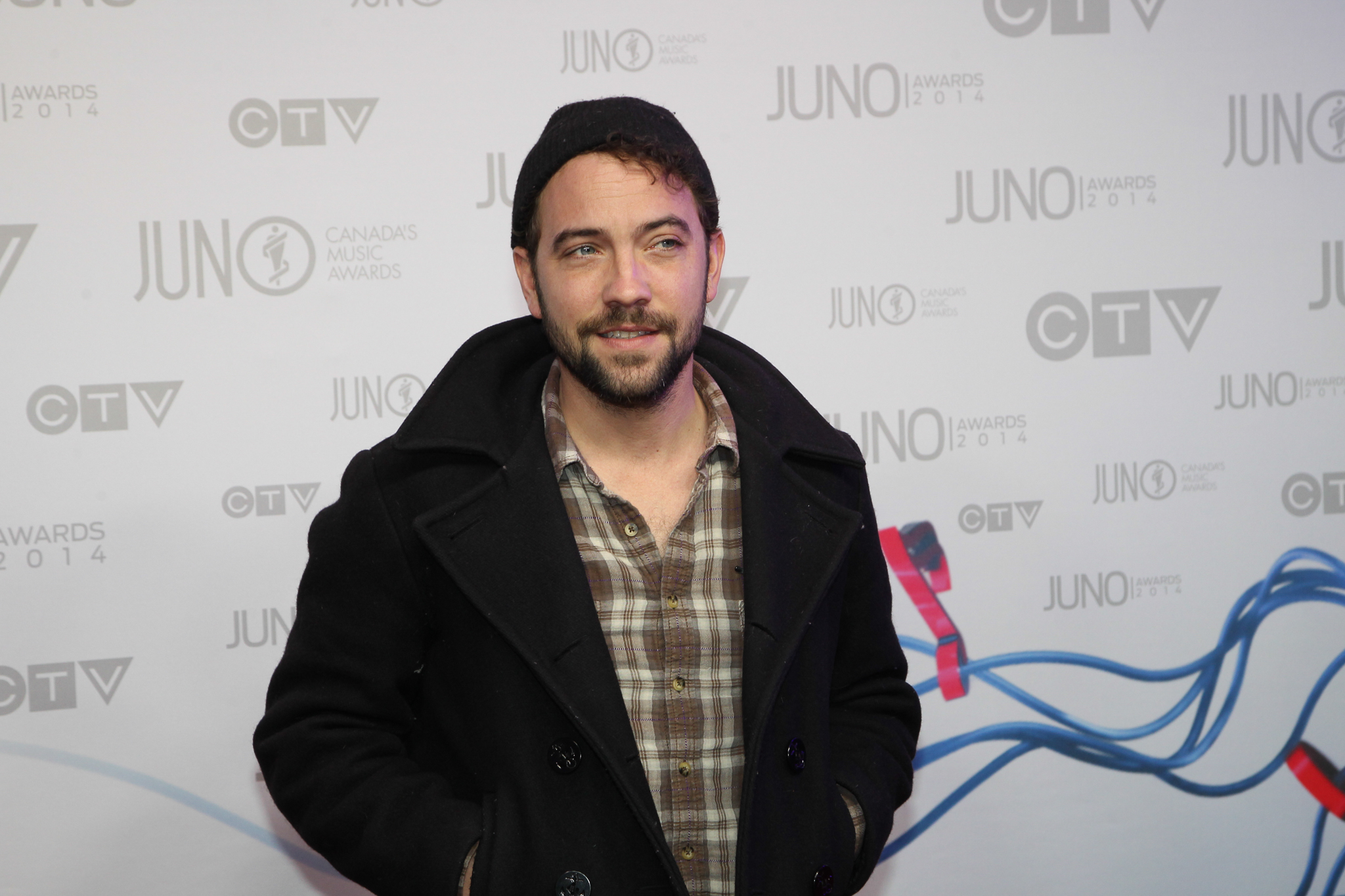 Justin Rutledge arrives on the red carpet.