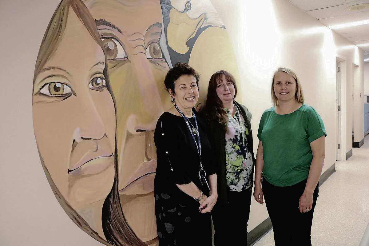Pictured from left to right: Dr. Sarah Kredentser, midwife Elisabeth Dolin and nurse practitioner Gina West, who work at Kildonan Medical Centre and are part of the Community Birth Program.