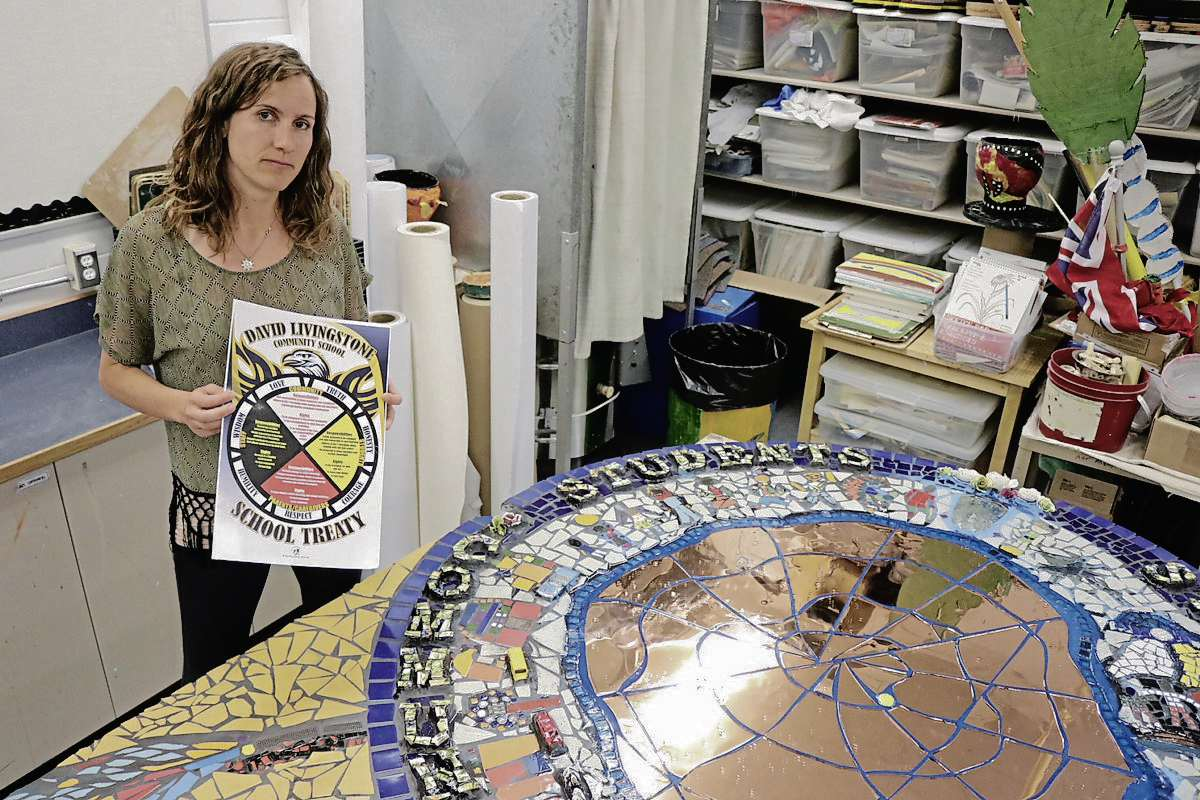 Talitha Kaethler, the integrated arts teacher at David Livingstone Community School and the project co-ordinator for the Treaty Mosaic Project says the project will turn treaties into something positive for the community.