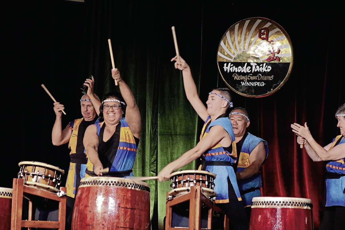 The Hinode Taiko group was one of the highlights of the evening and brought a fun rhythm to the presentation. (Photo by Ligia Braidotti)
