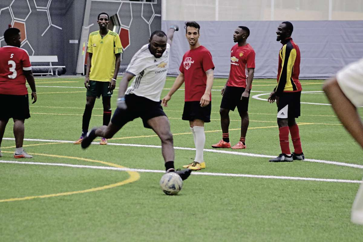 Seidu Mohammed hopes to continue to play soccer professionally here in Winnipeg and one day become coach.