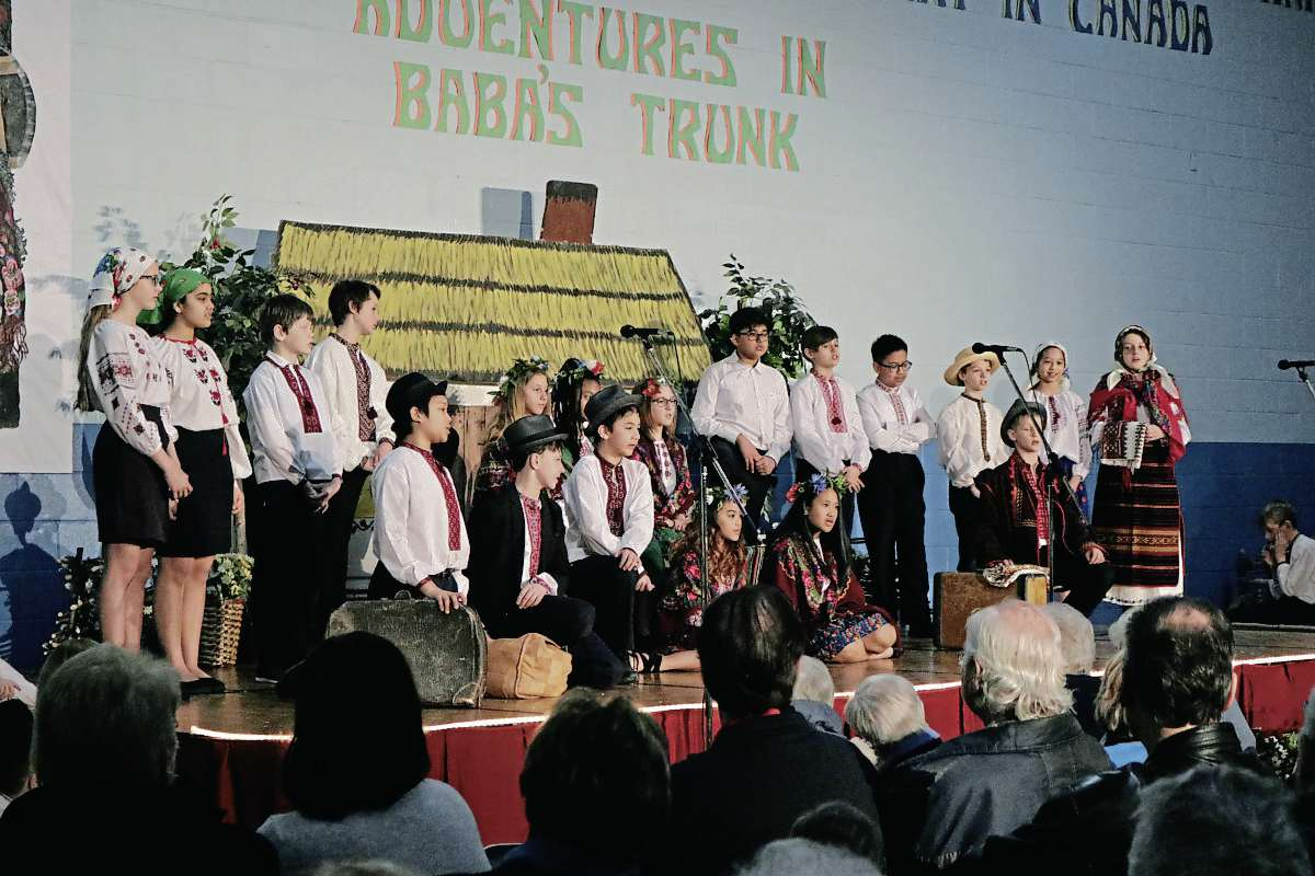 Immaculate Heart of Mary School students sing at the Ukrainian Week concert on Mar. 23, 2017.