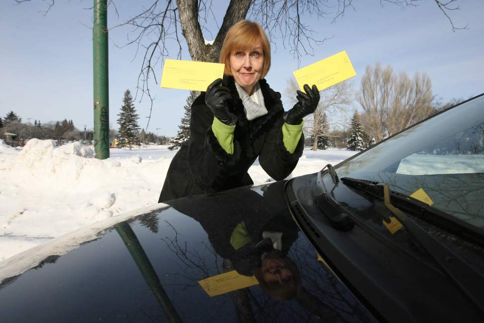 Lindor got not one, but two overnight parking tickets in 2009 on a street, despite the lack of signage. (Ruth Bonneville /Winnipeg Free Press)