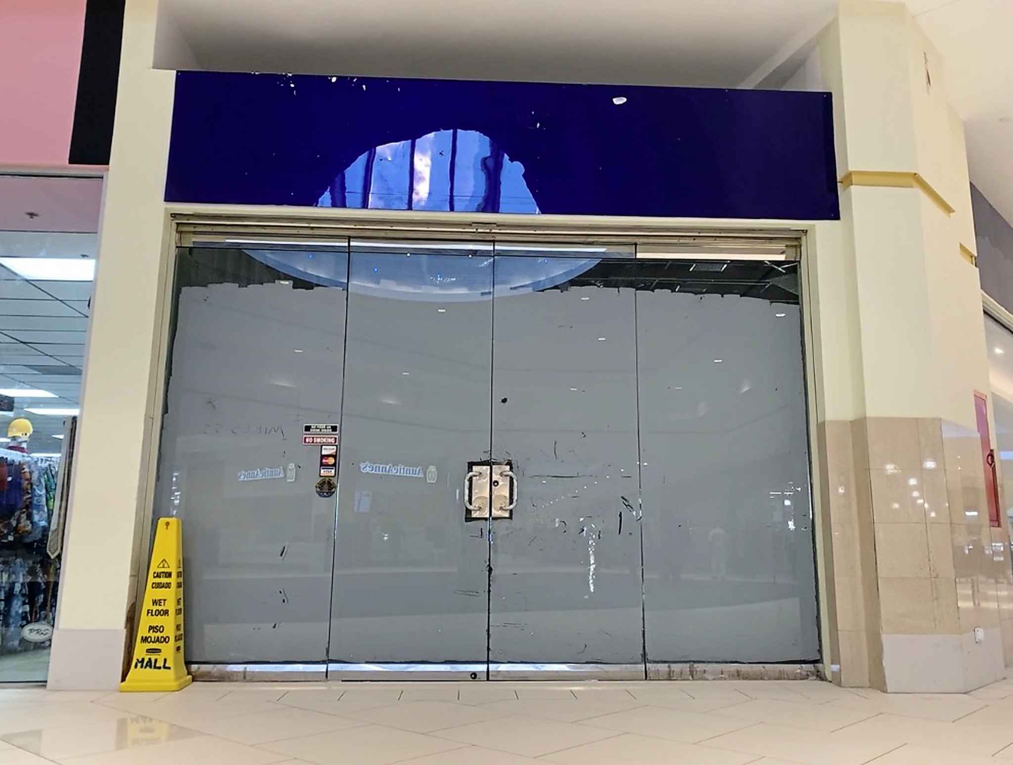 The former location of the Nygard store in the Mall at Marathon in Nassau, Bahamas which closed in 2019.