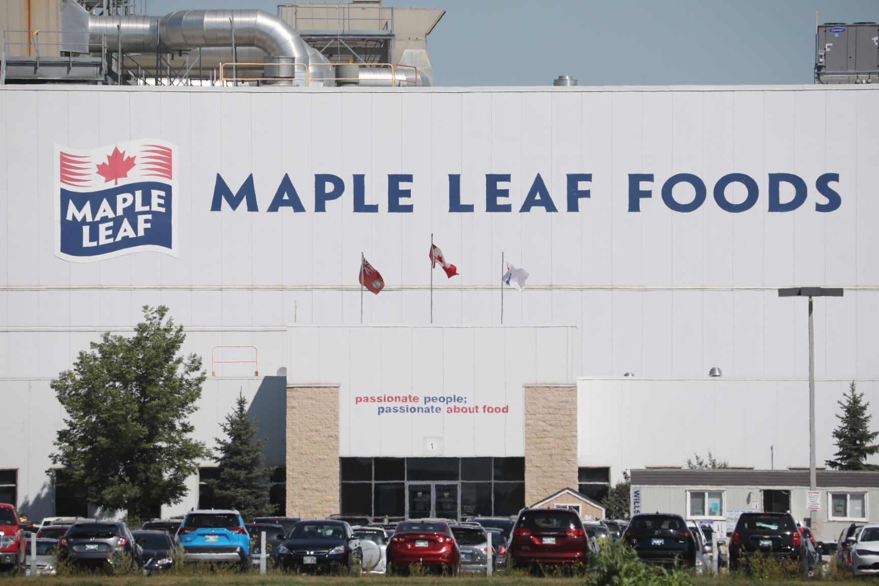 Three more workers at the Maple Leaf Foods pork-processing plant in Brandon have tested positive for COVID-19. (Tim Smith / The Brandon Sun)