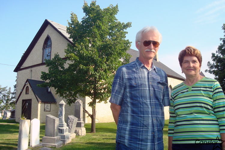 June Thompson and John Whiteway are two of the Friends of Historic Kildonan Church, a group dedicated to restoring the Kildonan Presbyterian Church built by the Selkirk Settlers back in 1854.