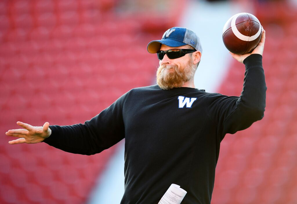 O'Shea feels the Bombers have an edge thanks to the consistency on their roster. (Nathan Denette / The Canadian Press files)