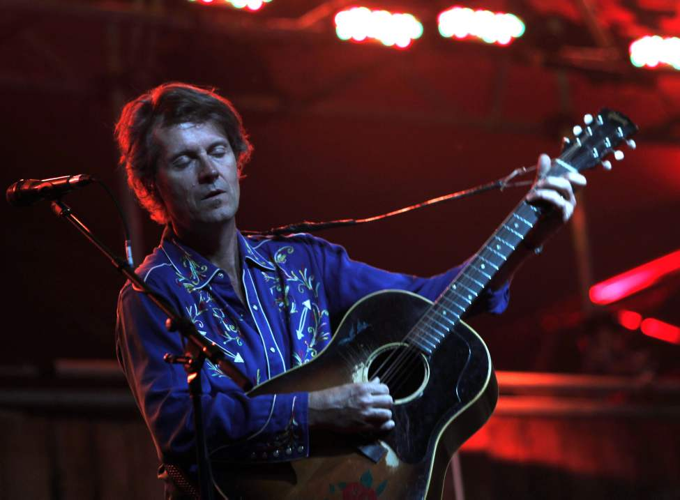 Jim Cuddy performs with Blue Rodeo Wednesday during the opening night of the Winnipeg Folk Festival. 