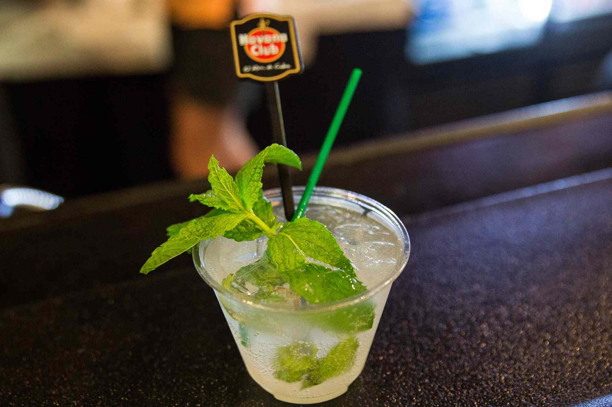MIKE DEAL / WINNIPEG FREE PRESS</p><P> A mojito ready for consumption at the Cuban Pavilion.