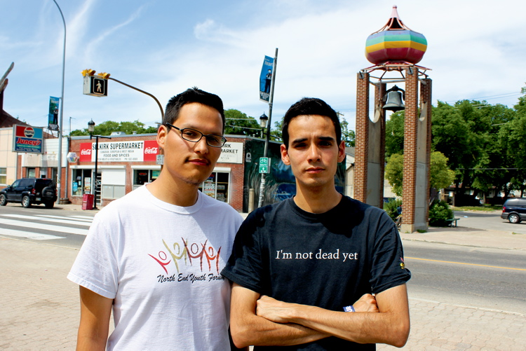 North End youth activists Mark Head and Michael Champagne say there is no shortage of space in the North End to host a budget consultation workshop.