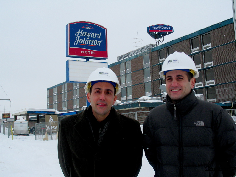 """Brothers Angelo (left) and Anthony Paletta are injecting $8-million into the former Howard JohnsonHotel on Ellice Avenue. """"If I owned any real estate around here, I'd be cringing at this place. For any area to have something like this, the way it was run, is not fair,"""" Angelo Paletta said."""