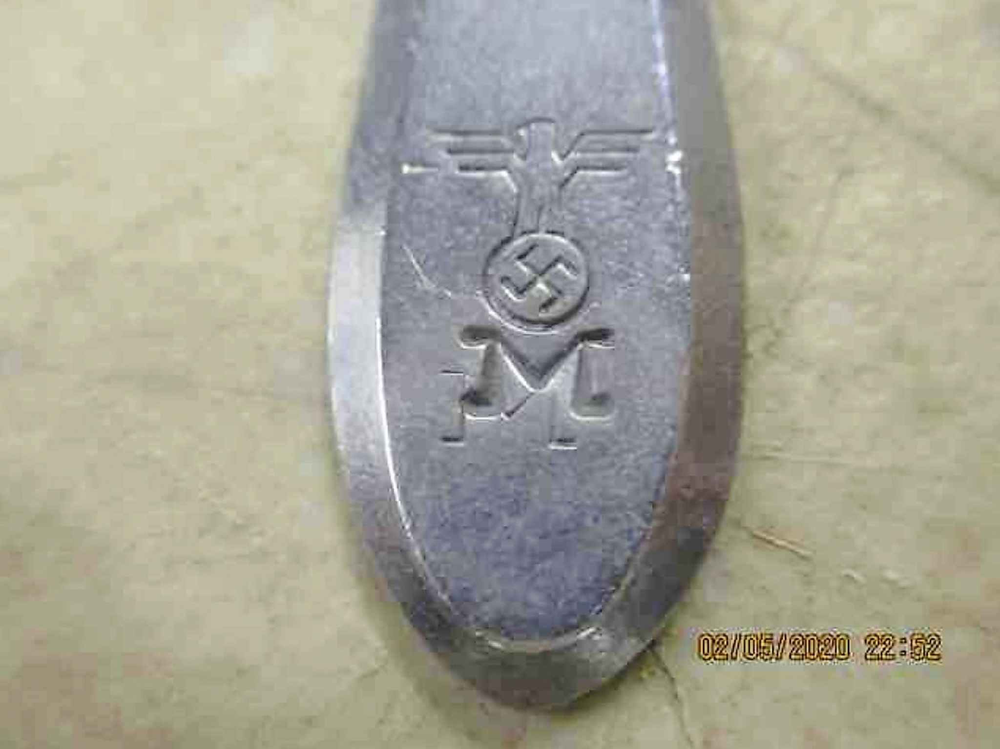 Kreigsmarine aluminum spoon. (McSherry Auction Service)