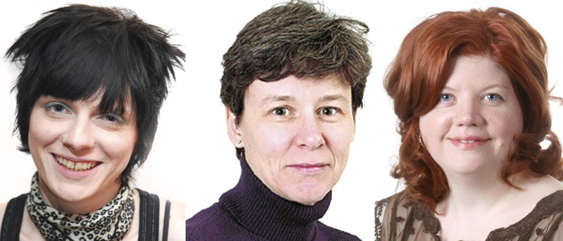 From left: Melissa Martin, Catherine Mitchell and Mary Agnes Welch