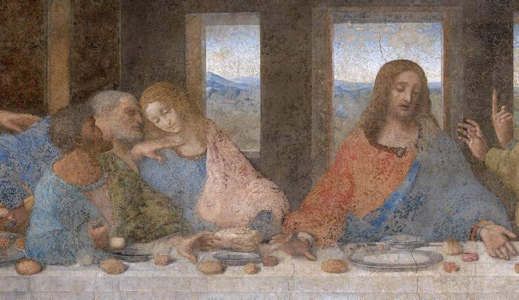 In Leonardo da Vinci's painting of the Last Supper, Judas (left wearing blue and green) holds a small bag, some speculate it is filled with the silver he earned for betraying Jesus. As the 13th guest at the Last Supper, he is the personification of bad turncoats according to the Romans.
