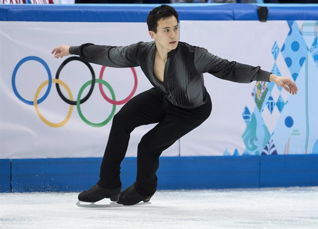Canada's Patrick Chan competes in the men's portion of the figure skating team event at the Sochi Winter Olympics Thursday, February 6, 2014 in Sochi. THE CANADIAN PRESS/Paul Chiasson