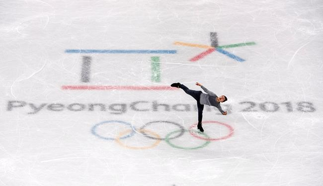 Patrick Chan, Tessa Virtue and Scott Moir, and Meagan Duhamel and Eric Radford have been the face of Canadian figure skating for the better part of a decade, and a gold medal in the team event at the Pyeongchang Olympics would be a fitting ending for Canada's finest. Patrick Chan goes through his routine during a practice session at the Pyeonchang Winter Olympics, in Gangneung, South Korea, Wednesday, February 7, 2018. THE CANADIAN PRESS/Paul Chiasson