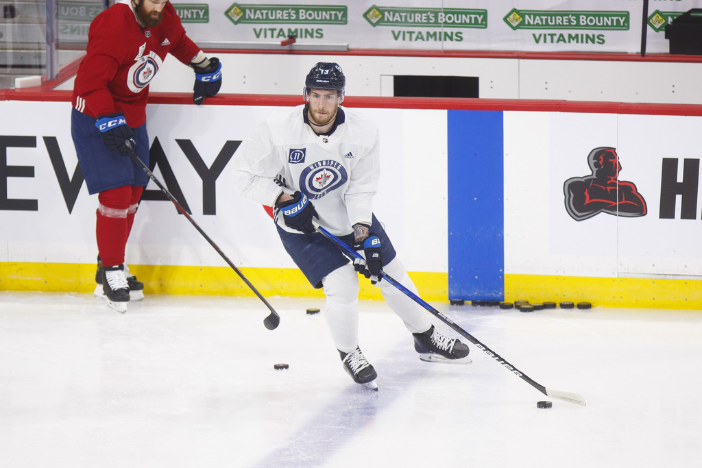 Pierre-Luc Dubois hasn't practised since being injured on Friday in the last game of the season. (Mike Deal / Winnipeg Free Press files)